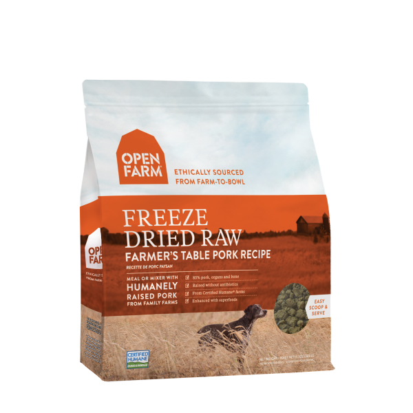 Open Farm Open Farm Freeze Dried Raw Farmers Table Pork 13.5oz
