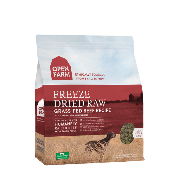 Open Farm Open Farm Freeze Dried Raw Grass Fed Beef 13.5oz