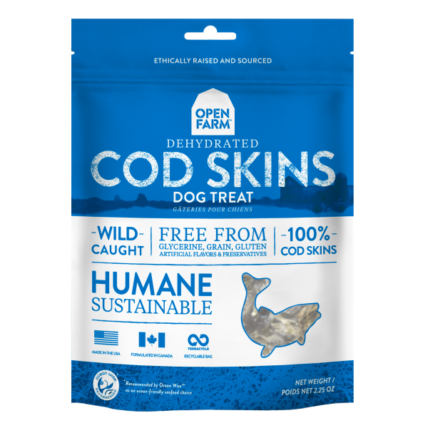 Open Farm Open Farm Dehydrated Cod Skins 2.25oz
