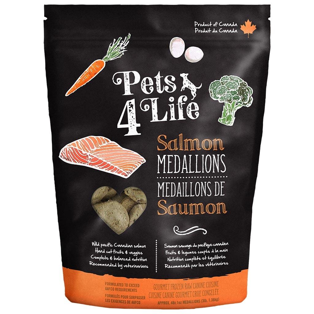 Pets 4 Life Pets 4 Life Raw Salmon Medallions 3LB