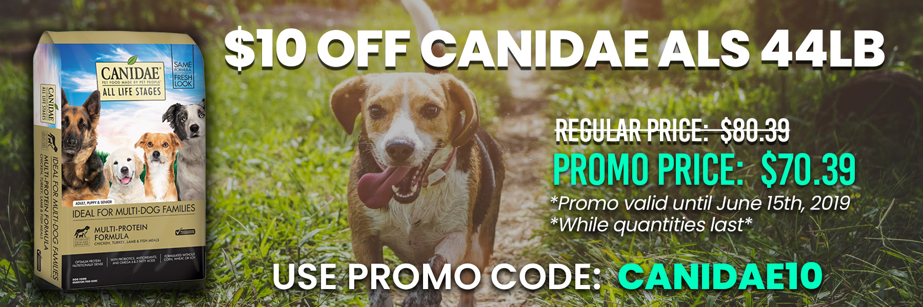 canidae special banner