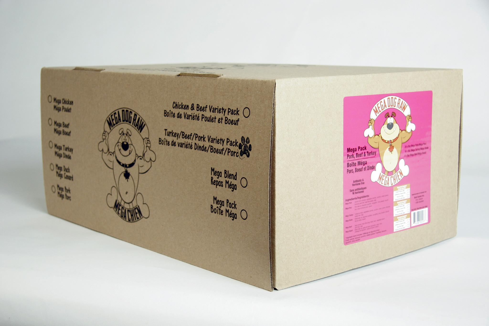 Bold Raw Mega Dog Variety Pack Chicken Free 24lb