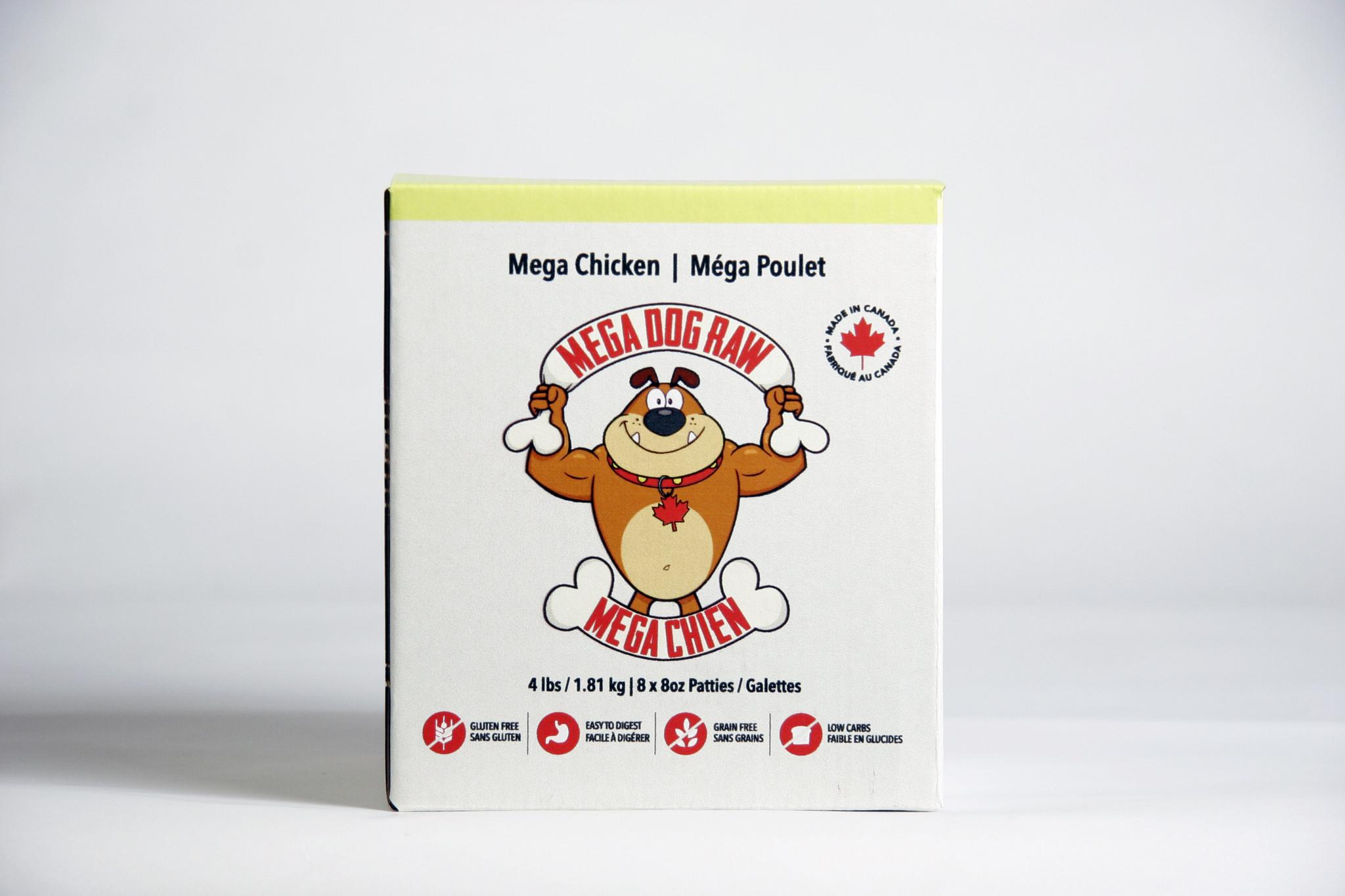 Bold Raw Mega Dog Bold Raw Chicken Patties