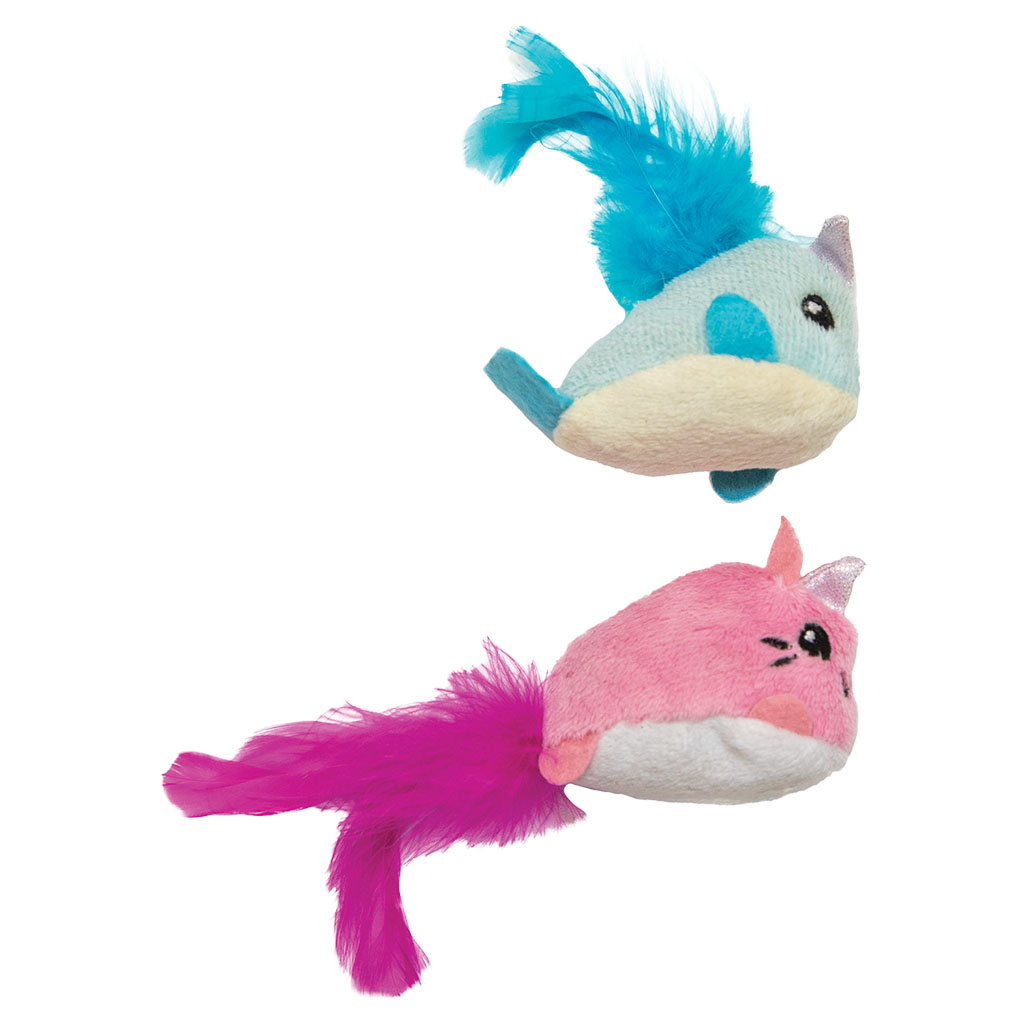 Pet Stages Unicorn Cat & Narwhal 2 PK