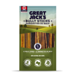 "Great Jack's Great Jack's Odor Free 5-7"" Bully Sticks 12pk"