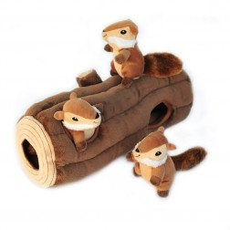 Zippy Paws Zippy Burrow Log & Chipmunks