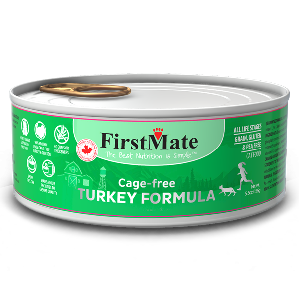 First Mate First Mate Cat Can Grain Free Turkey 5.5oz