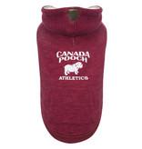 Canada Pooch Cozy Caribou Hoodie Maroon
