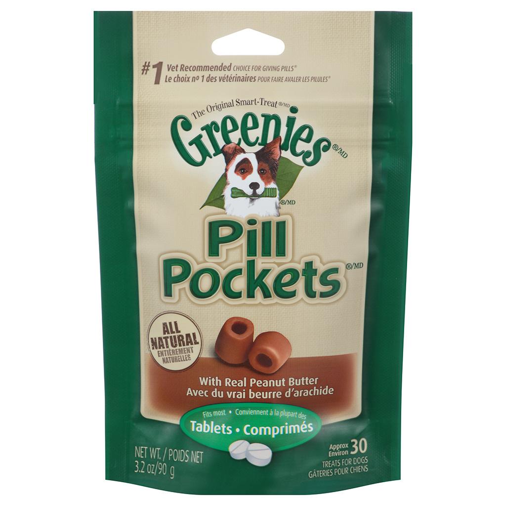 Greenies Pill Pocket Peanut Butter Tabs 3.2oz