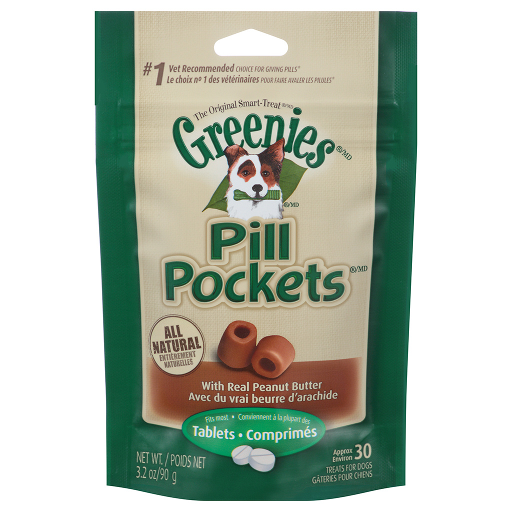 Greenies Pill Pocket Peanut Butter Tabs 3.2oz
