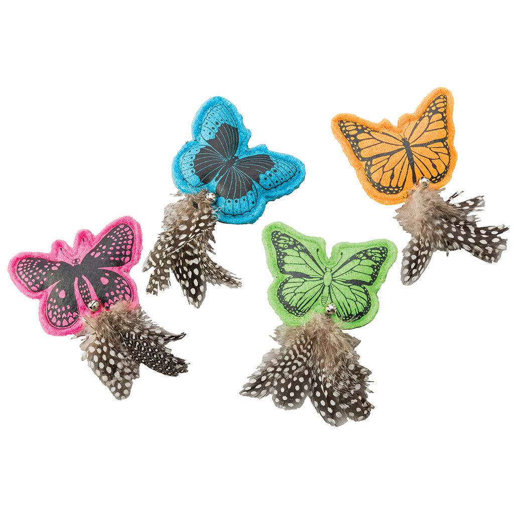 Spot Whiskins Felt Butterfly Feathers & Catnip