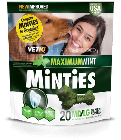 Minties Minties Dental Bones MD/LG 8 Ct
