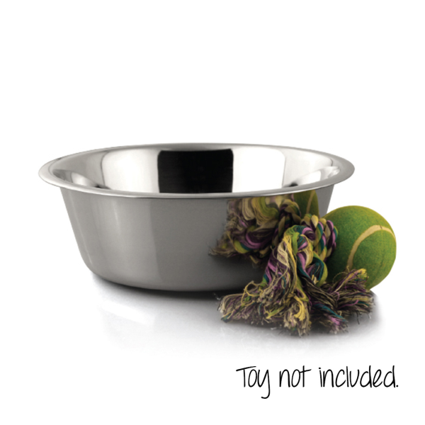Coastal Maslow Stainless Steel Bowl