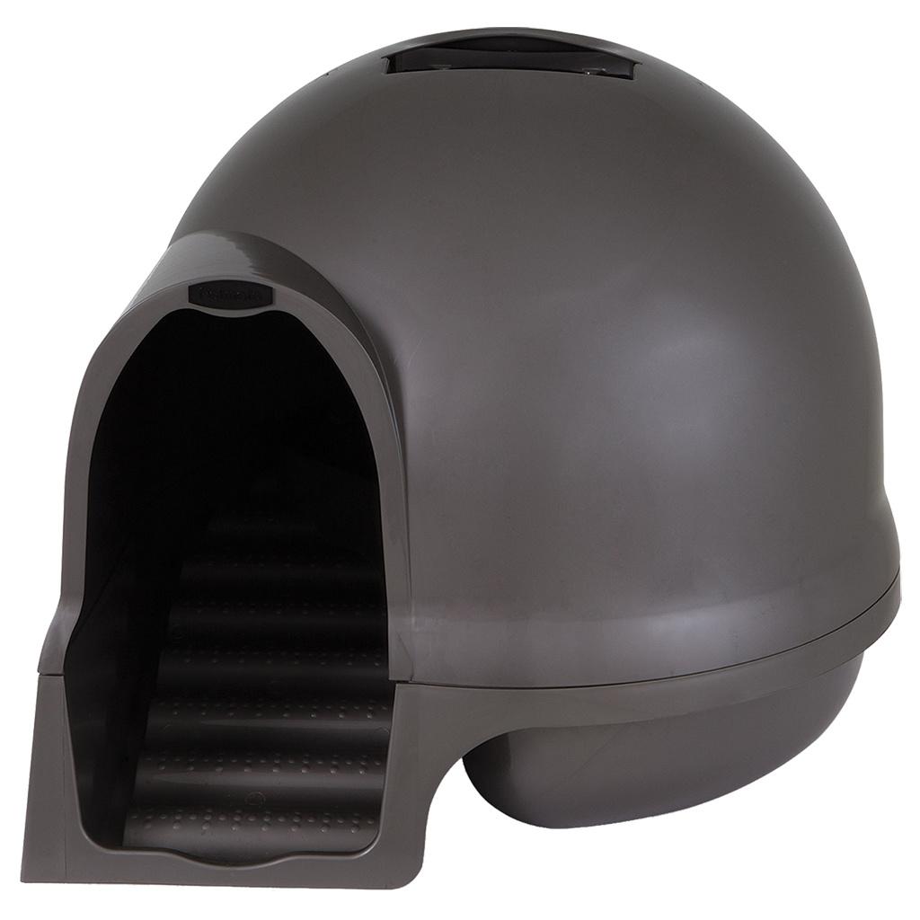 Petmate Booda Dome Clean Step Cat Box Grey
