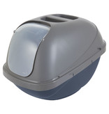 Petmate Litter Pan Hooded Large Blue & Silver