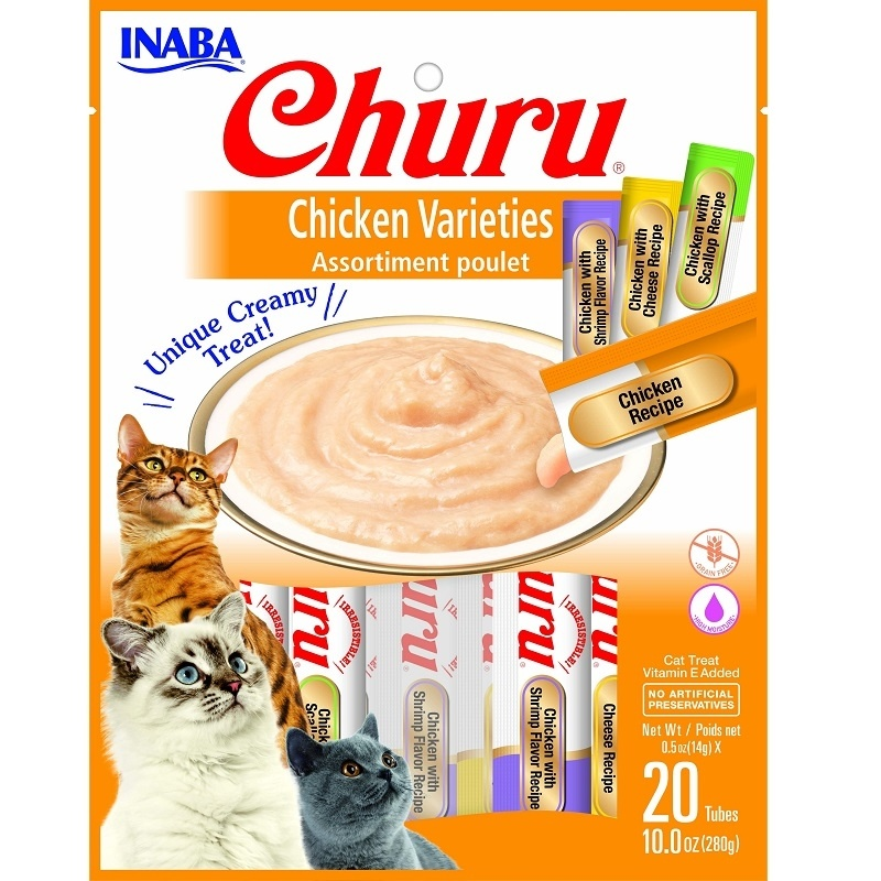 Inaba Inaba Churu Puree Chicken Variety 20pk