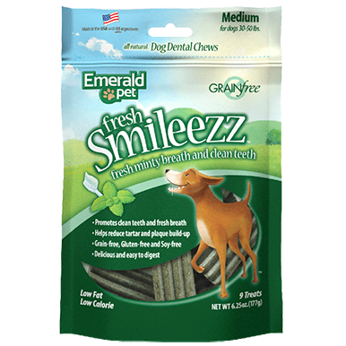 Emerald Pet Emerald Pet Smileezz Dental Chews 6.25oz