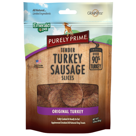 Emerald Pet Emerald Pet Turkey Sausage Slices 3oz