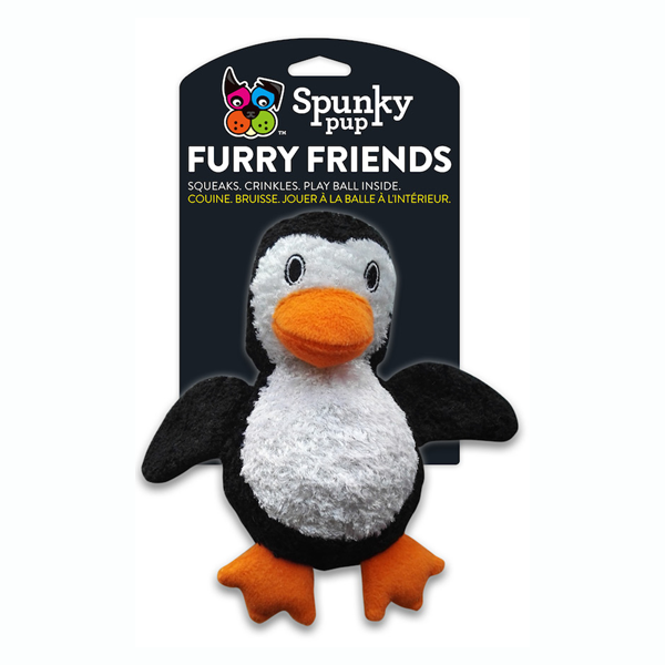 Spunky Pup Furry Friends Penguin Ball