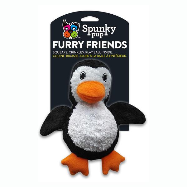 Spunky Pup Furry Friends Penguin Ball