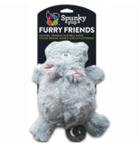 Spunky Pup Furry Friends Hippo Ball