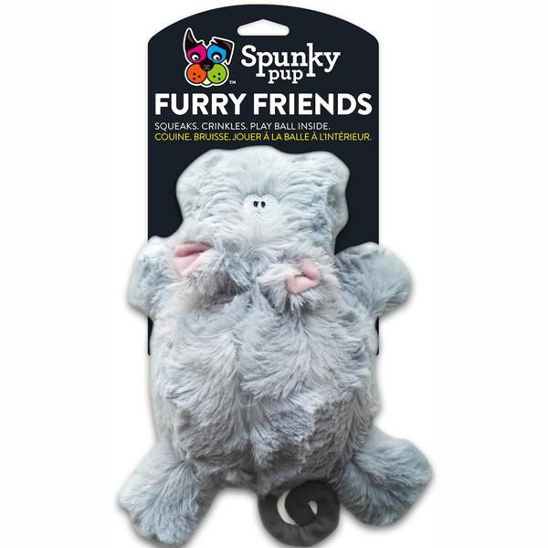 Spunky Pup Furry Friends Hippo Ball