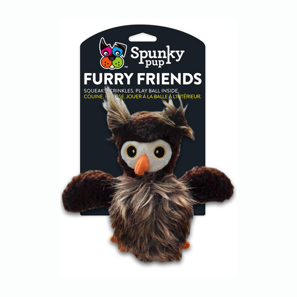 Spunky Pup Furry Friends Owl Ball