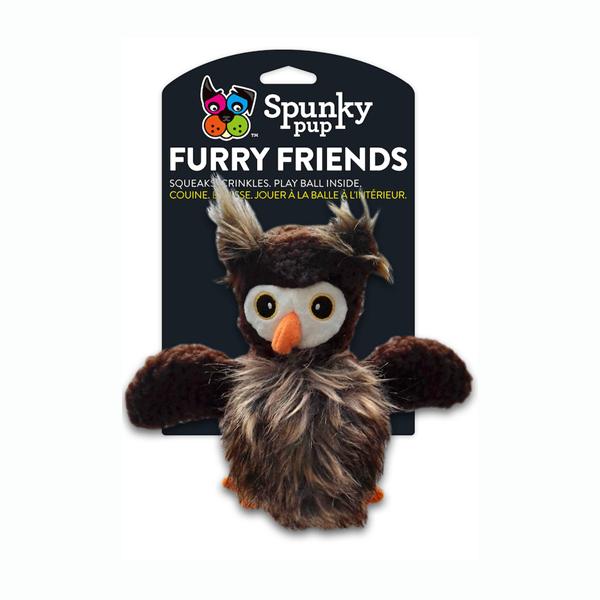 Spunky Pup Furry Friends Owl Ball