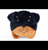 Zippy Paws Squeakie Buns Rottweiler