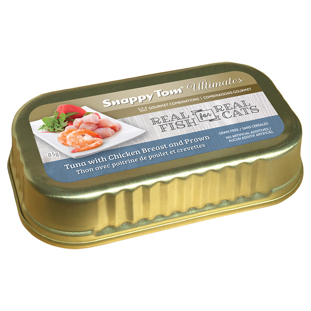 Snappy Tom Snappy Tom Ultimates Tuna w/ Chicken & Prawn 85g