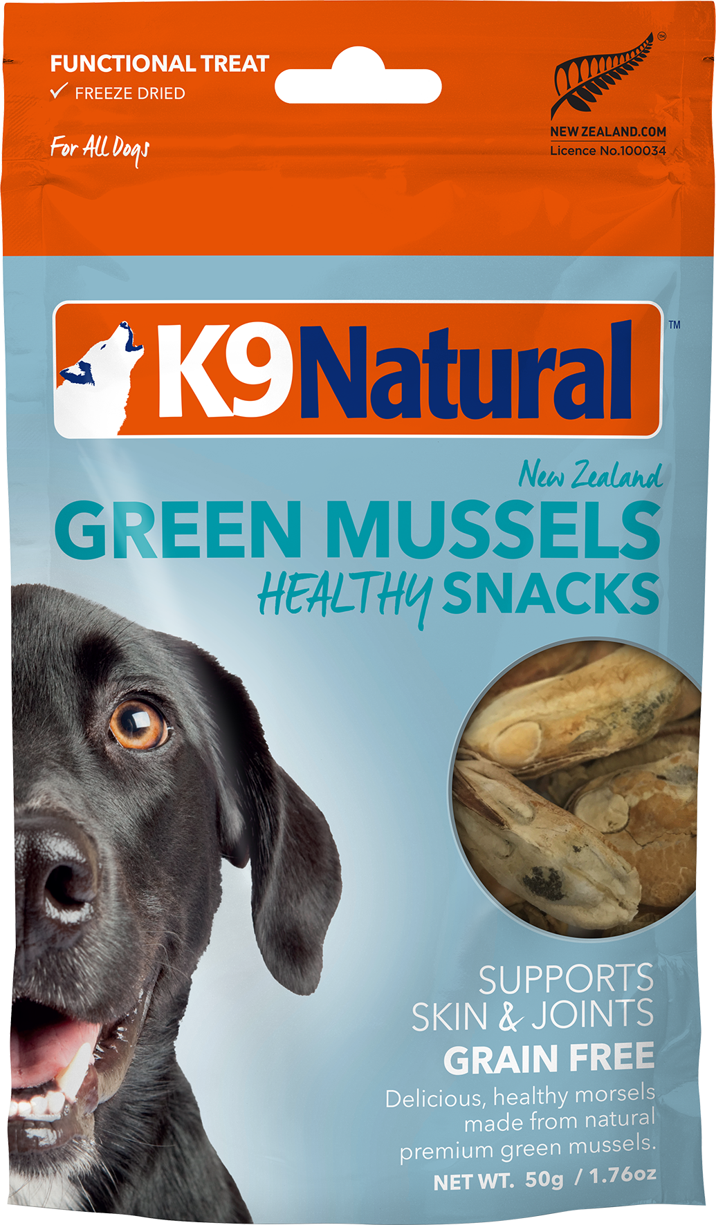 K9 Natural Freeze Dried Green Lipped Mussel 50g