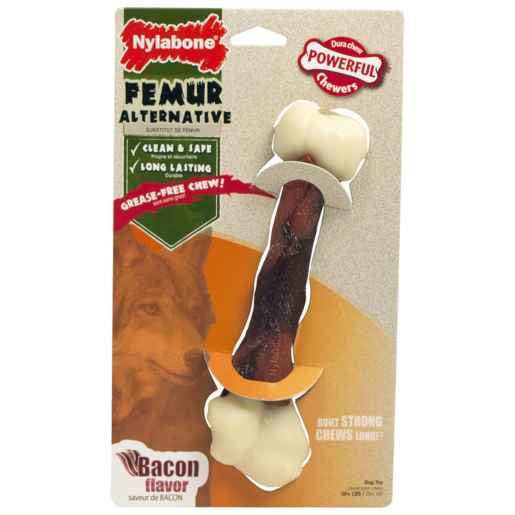 Nylabone Dura Chew Femur Alternative Bacon Large