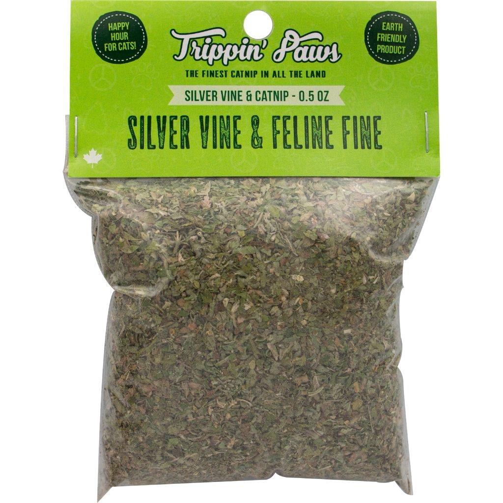 Trippin Paws Silver Vine & Feline Fine Catnip 1/2oz