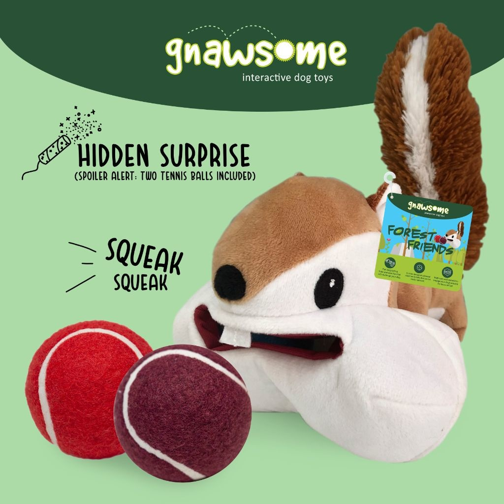 Gnawsome Forest Friends 3-in-1 Tennis Ball Large