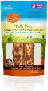 Canine Naturals Hide Free Peanut Butter Roll Large
