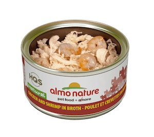 Almo Almo Chicken & Shrimp in Broth 70g