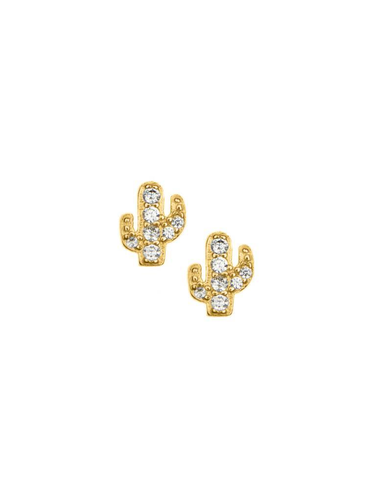 Frances Boutique Holiday Gifts Pave Cactus Stud Earrings