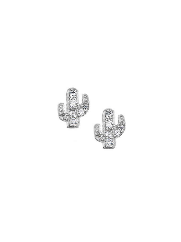 Pave Cactus Stud Earrings