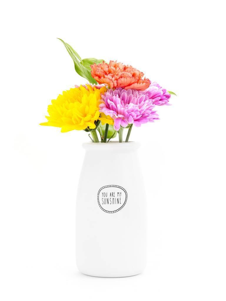 Ceramic Vase, You Are My Sunshine