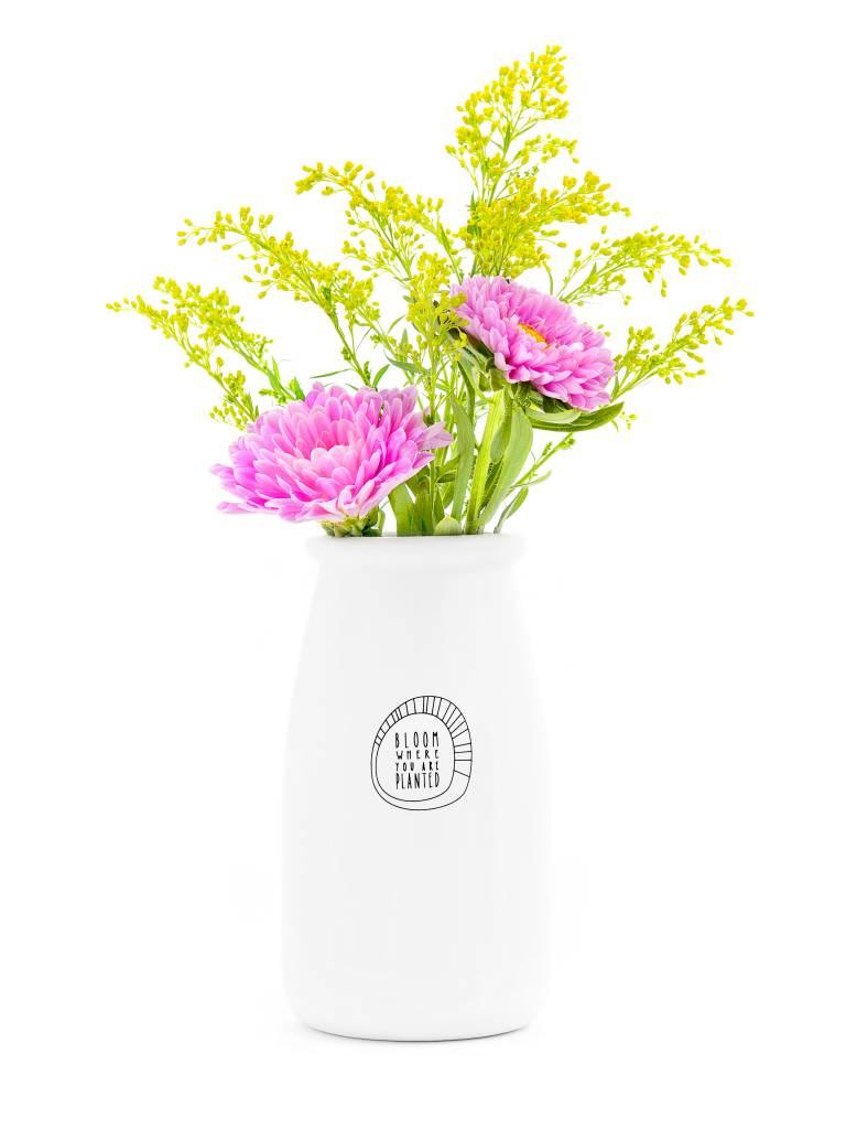 Ceramic Vase, Bloom Where You Are Planted