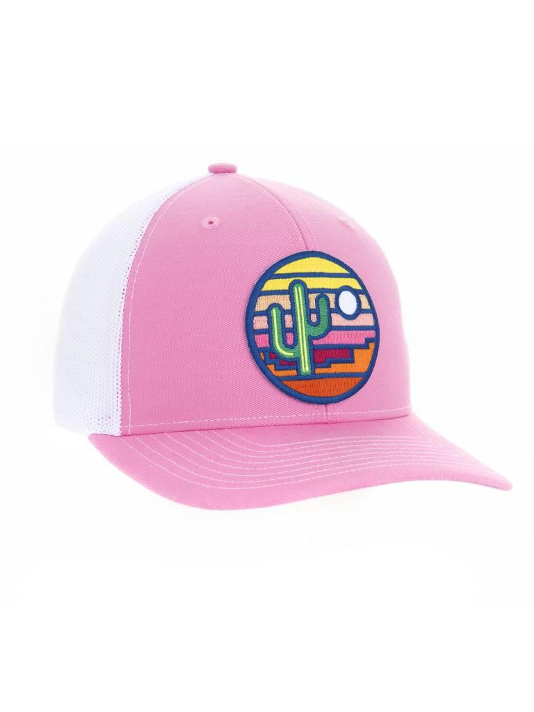 Stained Glass Trucker Hat, Pink