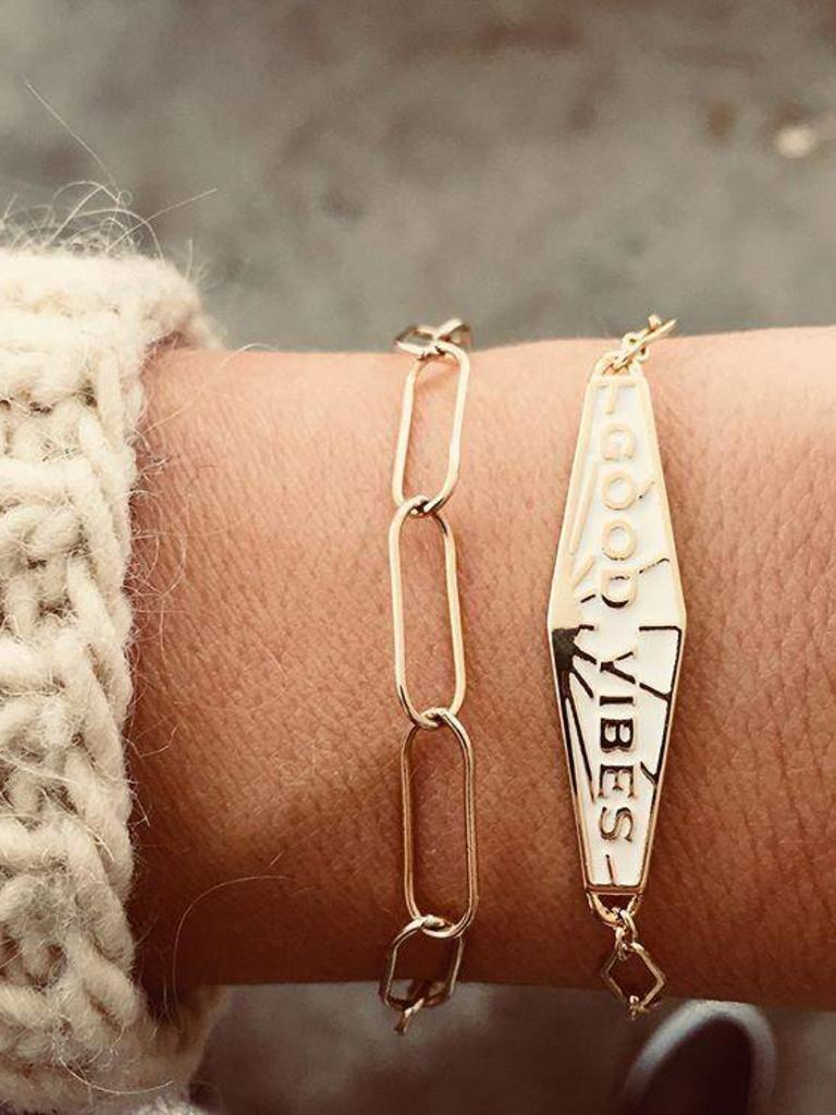 Good Vibes Enamel Bracelet