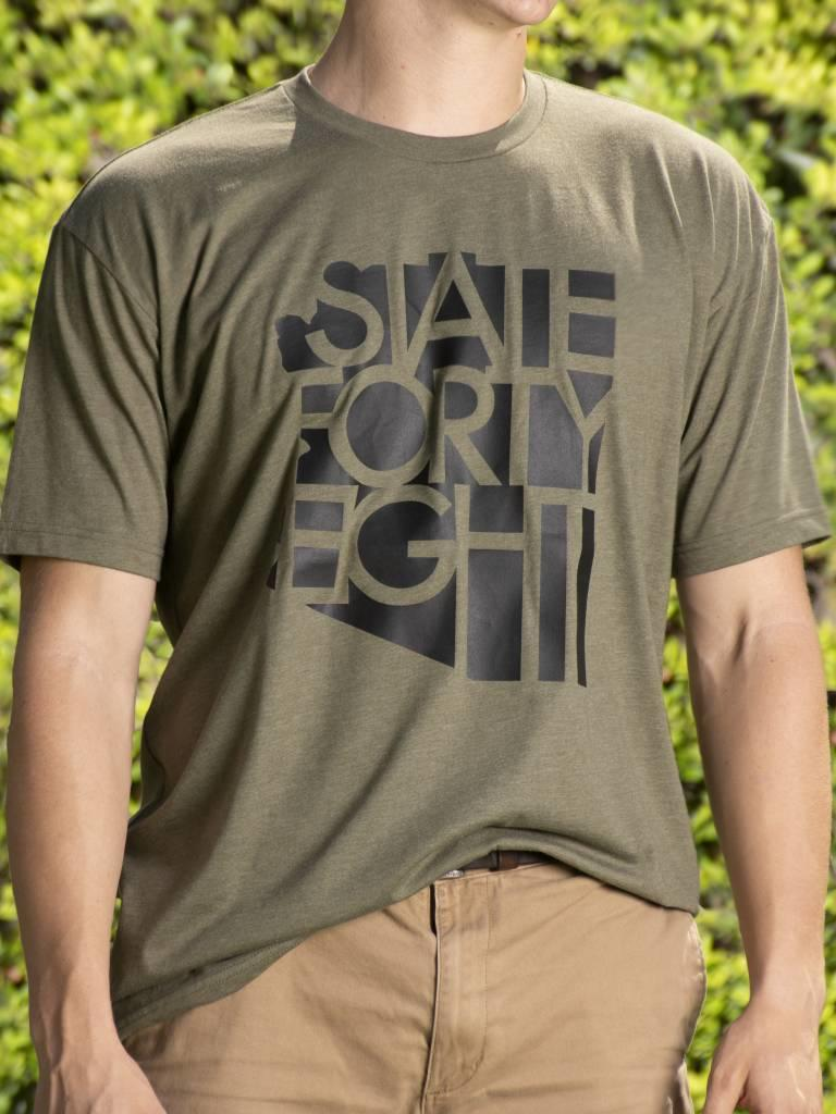 Military Green State Forty Eight Tee