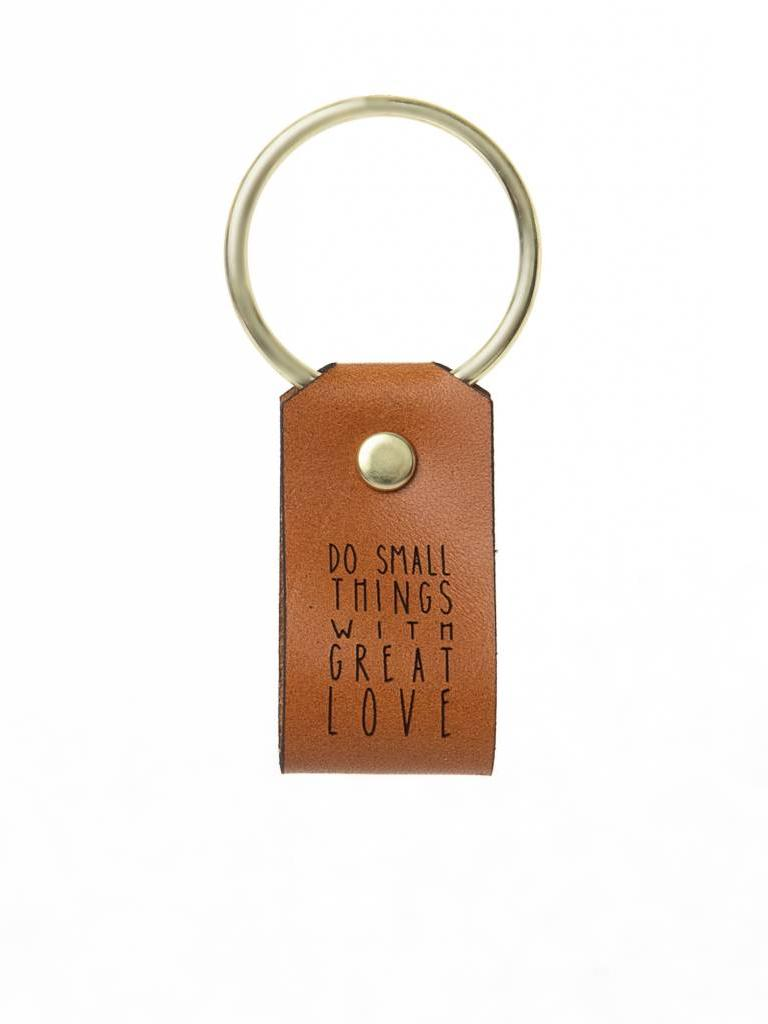 Leather Keychain, Do Small Things With Great Love