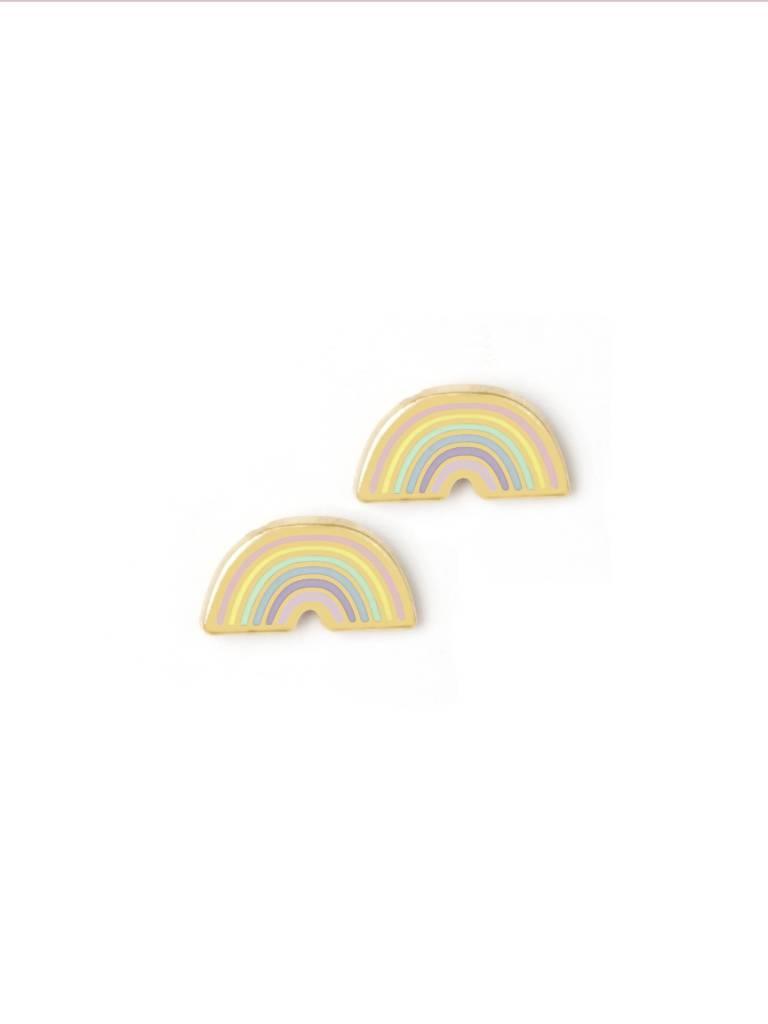 Pastel Tiny Rainbow Stud Earrings