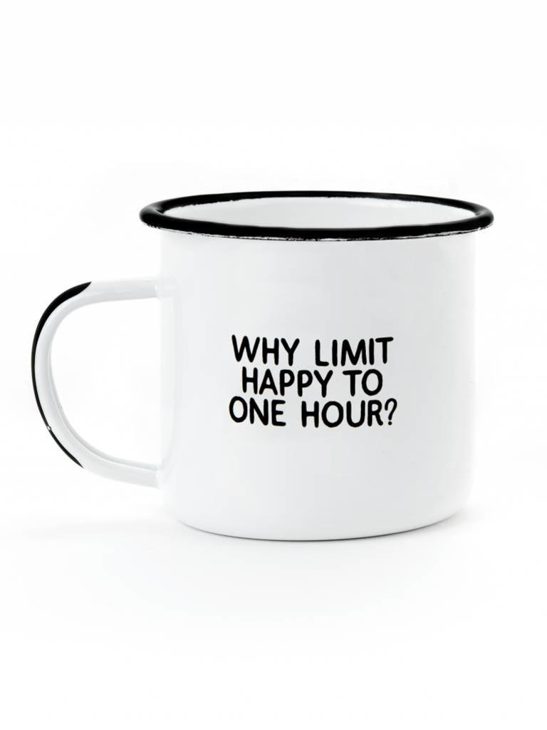 Enamel Mug, Why Limit Happy Hour