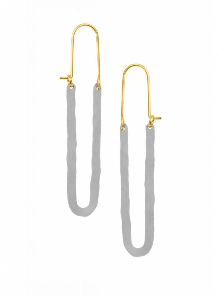 Bella Elongated Hoop Earrings