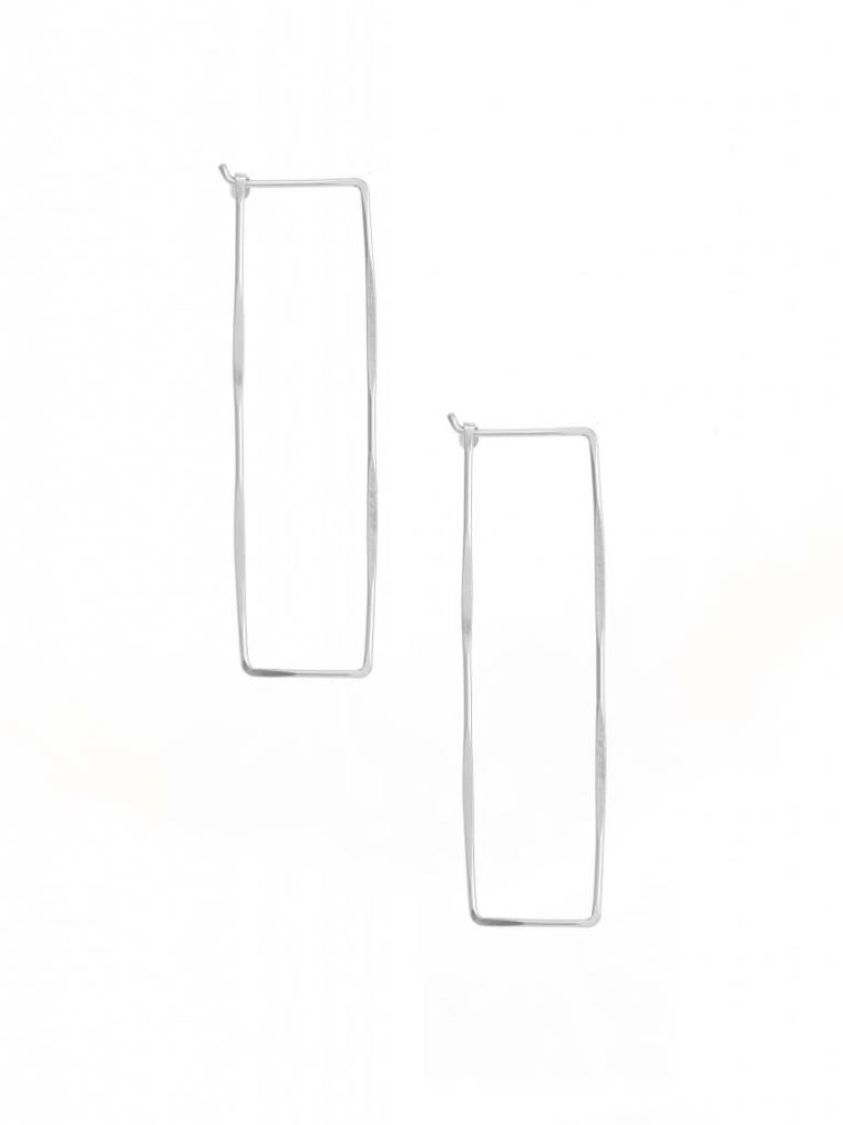 Large Rectangle Hoop Earrings