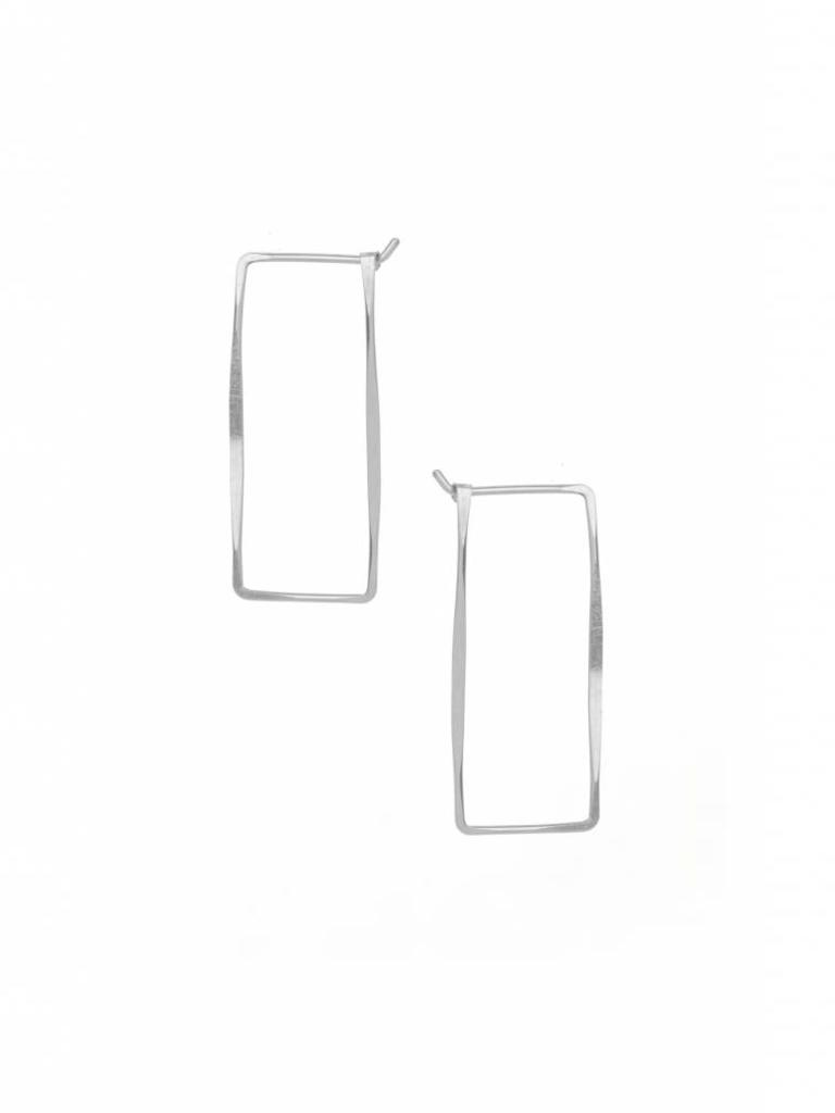 Small Rectangle Hoop Earrings