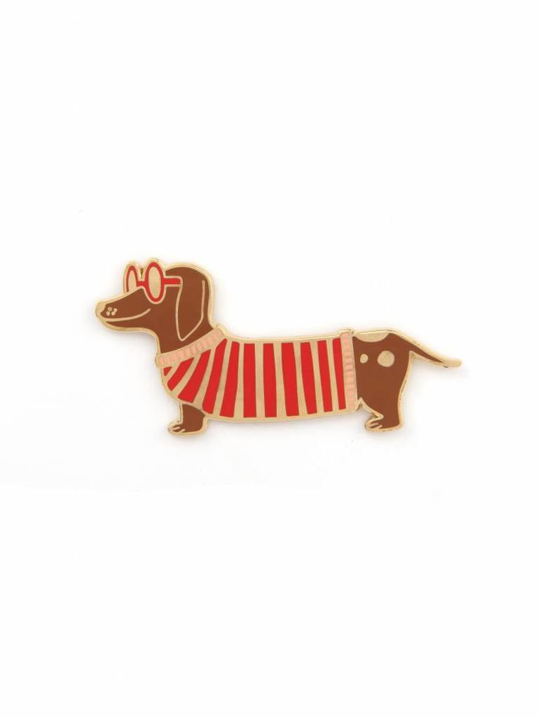 Mr. Wiener Dog Enamel Pin